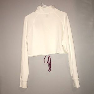 Forever 21 Sweaters - FOREVER 21 ~ ZIP UP CROPPED SWEATER ~ SIZE: MEDIUM